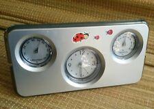 Tischuhr mit Thermometer und Barometer