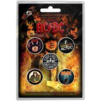 Official Licensed Merch 5-BADGE PACK Metal Pin Badges AC/DC Highway to Hell