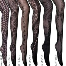 Sexy Fishnet Hold Up Stockings Women Lace Sheer Suspender Pantyhose Hosiery Slim