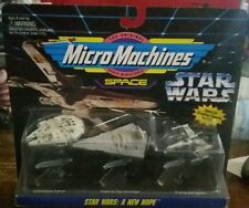 1994 Galoob Micro Machines Star Wars-A New Hope X-Wing Millennium Falcon Bnip