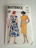 Butterick Pattern 3282 Blouson Bodice Dress Back-buttoned Size 6-8-10 New