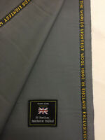 Taylor & Lodge Dark Silver Grey Super 150s Lightweight Wool Suit Fabric. (170g)
