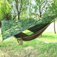 Hängematte mit Moskitonetz Regenplane Sonnenschutz Ourdoor Camping G4J9