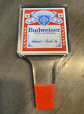 Vintage Red White Blue Square Acrylic Budweiser Tap