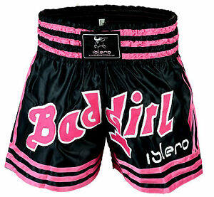 EVO Pink Ladies Muay Thai Fight Shorts Girls MMA Kick Boxing Martial Arts Women