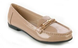 WOMENS LADIES COMFORT LOAFERS WITH METAL TRIM WORK SECRETARY SHOES SIZE 3 -8