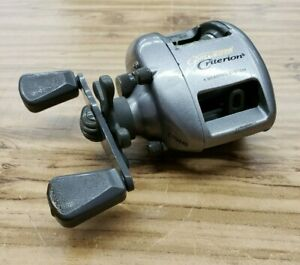 Pflueger Criterion Low Profile Bait Casting Fishing Reel Right Hand Pre-Owned