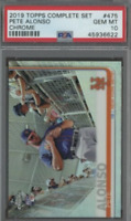 2019 Topps Chrome Complete Set #475 Pete Alonso RC Rookie PSA 10 GEM MINT