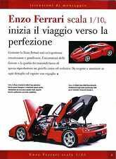DeAgostini Ferrari Enzo 1:10 immagini istruzioni di montaggio