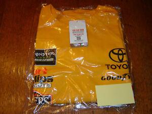 Joe Gibbs Team Collection Erik Jones Yellow DEWALT Uniform T-Shirt -XXL