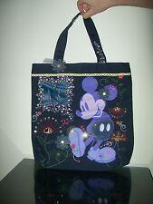 Disney Mickey Bling Tote Mickey Mouse Navy New Rare