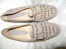 Van Eli leather studded leather suede deck shoes sz 8 B used con REDUCED