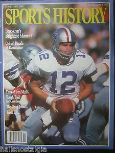 Nov. 1987 SPORTS HISTORY Magazine with Roger Staubach Cover