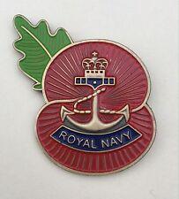 Royal Navy ( RN )  Regimental Poppy Pins-Antique Bronze