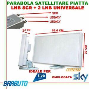 ANTENNA SATELLITARE PIATTA SCR + 2 USCITE STANDARD SELFSAT H21SCR OMOLOGATA SKY