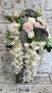 Bling flower arrangement with vase/urn, table, center piece