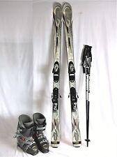 K2 Comanche Sport Used 160cm Ski Package w/ New Scott Poles, Used Dalbello boots