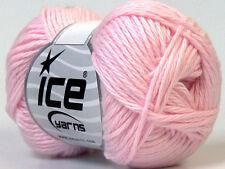 8 PELOTES DE LAINE ICE YARNS BABY COTON (100% GIZA COTON) BEBE ROSE