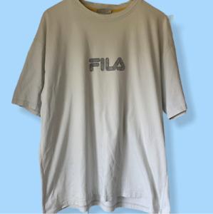 Vintage FILA T Shirt XL Off White 90s