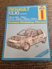 Renault Clio Owner's Workshop Manual 1991 to 1993 Haynes (petrol) (Service & Rep