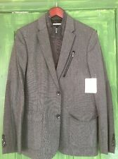 Calvin Klein Jacket With Interior Zipper For Harsh Weather Men Size M Slim Fit