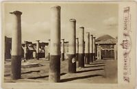 Pompei Italia Foto Sommer PL17c2n8 Cartolina Armadio Vintage Albumina