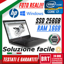 "PC NOTEBOOK PORTATILE HP ZBOOK 15 15"" G3 CPU I7 6gen 16GB RAM 256GB SSD +WIN10!!"