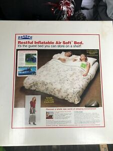 NEW Vintage Inflatable Queen Sz Guest Bed Camping Mattress Siesta Air Soft Bed