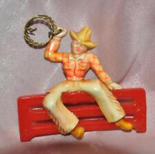 1950's VTG HARD PLASTIC WESTERN THEME COWBOY ROPER PIN, NOVELTY COSTUME JEWELRY