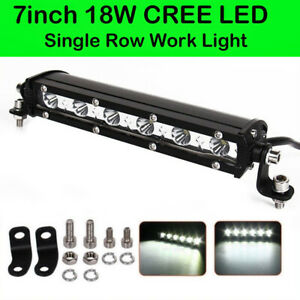 7 inch 18W LED Work Light Bar Flood Spot Beam Lamp Driving Car Offroad SUV Truck