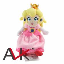 "New Super Mario Brothers Princess Peach 8"" Stuffed Toy Plush Doll"
