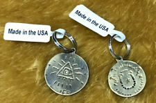 Free People Etched Gold Dog Tag Charm Pet By Ariana Ost Set Of 2 NWT