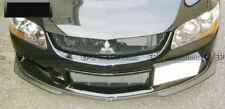 For Mitsubishi EVO 9 Ralliart Carbon Fiber Front Under Bottom Line Lip Splitter