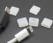 MICRO USB AND IPHONE MALE PLUG CONNECTOR CABLE SILICONE DUST CAP COVER PROTECTOR