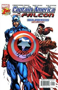 CAPTAIN AMERICA & THE FALCON #1 SIGNED BY ARTIST BART SEARS