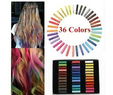 36 HAIR CHALK TEMPORARY HAIR DYE COLOUR SOFT PASTELS SALON KIT UK Seller