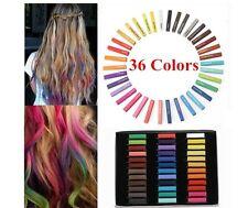 Coloración Cabello Temporal de tiza de pelo 36 colores pasteles suaves Kit De Salón vendedor de Reino Unido