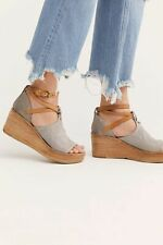 Free People AS 98 Nina Platform Wedge Sandals Textured Leather Size 39 New