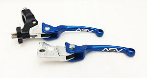 ASV Unbreakable F3 Blue Pair Pack Folding Brake + Clutch Levers Banshee YFZ