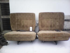 Jeep CJ Gold Suede Seats Dual Fold with belts and brackets – Preowned
