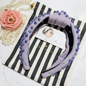 Lele Sadoughi Lilac Beaded Woven Headband Brand New