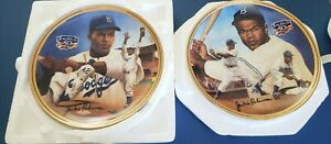 JACKIE ROBINSON BRADFORD EXCHANGE COLLECTOR PLATES PLAYER OF YEAR/BATTING CHAMP