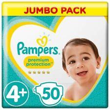 PAMPERS Premium Protection Taille 4+ 9 18 kg 50 Couches Soin Peau Hygiène Bébé