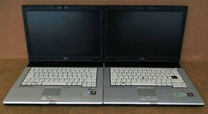 Lot Of 2X Fujitsu Lifebook Series Laptop Intel Core 2 Duo P8600 @ 2.40GHz S7220