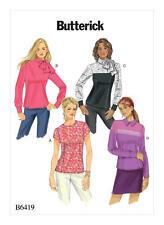 Butterick B6419 Pattern Misses Blouses Sizes 6-14 Uncut