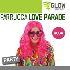 PARRUCCA LOVE PARADE anni 50 60 grease hippy parrucche notte rosa costumi 33623