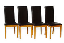 Dining Kitchen Set of 4 Fallabella Solid Wood Side Chair, Maple