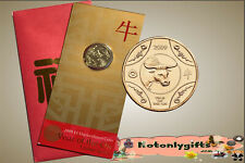 2009 $1 Uncirculated Coin 'Year of the Ox' on Card