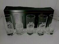 Lauren Ralph Lauren Classic Crest Shot Glasses Barware Set of 5 New Opened  Box