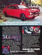 1972 Subaru GL Coupe - Original Advertisement Print Art Car Ad J662